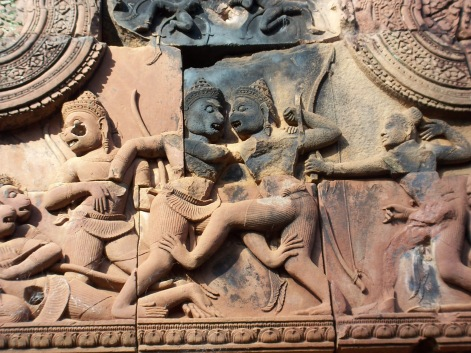 Depictions of What Resembles Pradal Serey on the Ancient Ruins of Angkor Wat
