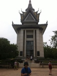 Buddisht Monument filled with thousands of human skulls